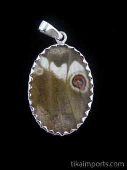 reverse of medium Shimmerwing pendant