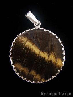 reverse of large Shimmerwing pendant