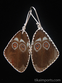 reverse of large Shimmerwing earrings