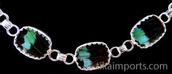 reverse of Rainbow Sunset Shimmerwing link bracelet