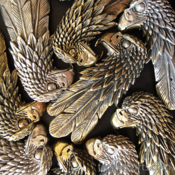 Brass Eagle Pendant, a symbol of strength, leadership and vision