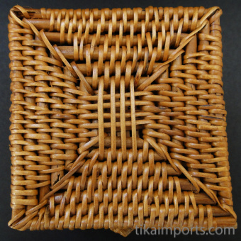 Handwoven rattan baskets from Lombok, Indonesia