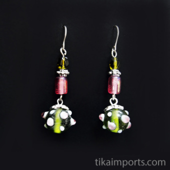 Handmade glass beads in a sweet Spring-time palette