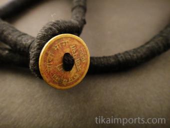 Naga Style Black & Brass Necklace