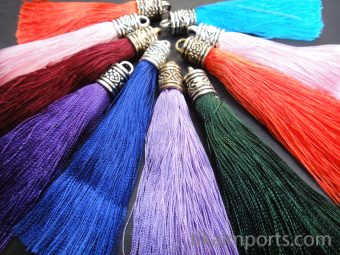 Metal-Capped Tassels, available in packs of 10
