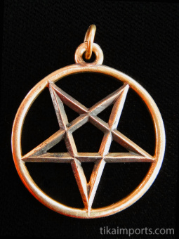 copper Pentacle pendant, considered a magical talisman in many ancient traditions