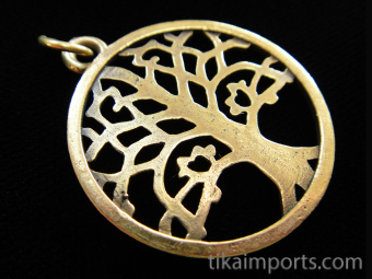 brass Tree of Life pendant, a universal symbol for life
