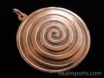 copper pendant featuring the 12 signs of the Western Astrological zodiac