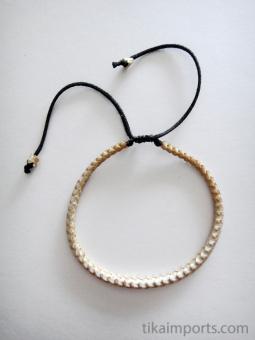 Adjustable Thin Snake Vertebrae Bracelet with light stain