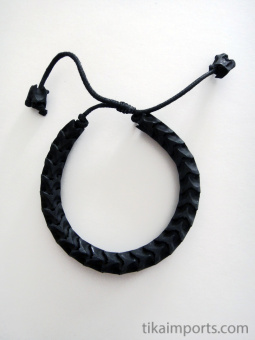 Adjustable Standard Snake Vertebrae Bracelet with Black stain