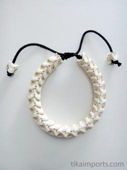 Adjustable Standard Snake Vertebrae Bracelet with natural white finish