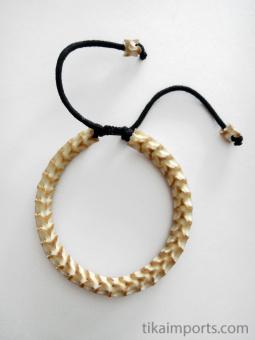 Adjustable Standard Snake Vertebrae Bracelet with light stain