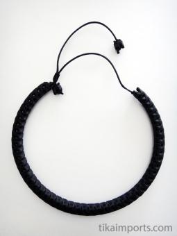 Adjustable Snake Vertebrae Choker with black stain