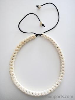 Adjustable Snake Vertebrae Choker with natural white finish