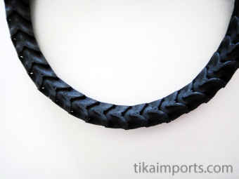 Adjustable Thin Snake Vertebrae Bracelet with black dye