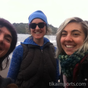 Tika ladies - Julie, Corrine and Danielle on Indian Beach
