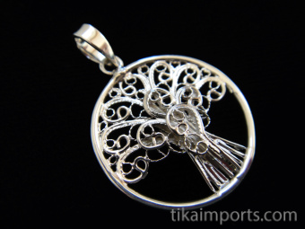 Tree of Life, hand fabricated sterling silver pendant