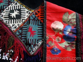 Traditional Saye Gosha textile, showing front and back
