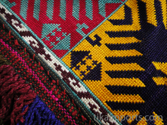 detail of Traditional Saye Gosha textile