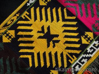 front detail of Traditional Saye Gosha textile