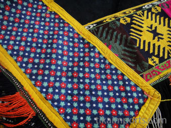 detail showing front and back of Traditional Saye Gosha textile
