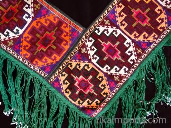 Traditional Saye Gosha textile from Uzbekistan and Afghanistan