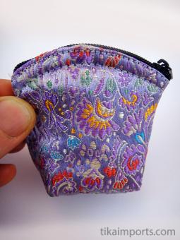 single small brocade zipper pouches