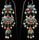 Antique Afghani Gilt Silver Earrings