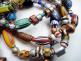 African Trade Bead bracelets, closeup