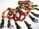 fancy tassel bracelets- showing variety in a typical 10pc assortment