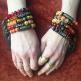 fancy tassel bracelets- shown being worn