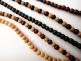 3mm Sandalwood, Sandalwood & Rosewood, Ebony, Sandalwood & Ebony and Rosewood necklaces