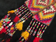 Vintage two-piece embroidered tassel set from Central Asia