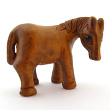 handcarved boxwood horse button