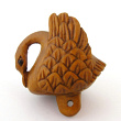 handcarved boxwood swan button