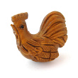 handcarved boxwood rooster button