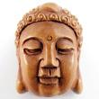 handcarved boxwood ojime bead of Buddha