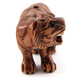 handcarved boxwood ojime bead of tiger
