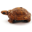 handcarved boxwood ojime bead of turtle