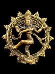 Dancing Natraj brass deity pendant, the lord of the dance