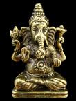 Sitting Ganesh brass deity pendant
