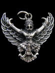 Garuda brass deity pendant, the king of birds