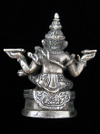 Sitting Ganesh - the Remover of Obstacles, showing the back of statuette