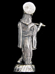 Krishna brass deity statue, god of love and compassion playing his flute