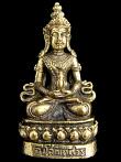 Avalokiteshvara brass deity statue, the bodhisattva of compassion and mercy