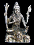 Shiva brass deity statue, represented in one of his various forms as a meditating yogi