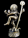 Dancing Shiva brass deity statue, the Lord of the Dance