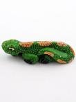 ceramic iguana bead - handmade and painted in Peru