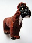 Boxer ceramic bead ~ individually handmade and hand-painted in Peru