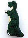 ceramic tyrannosaurus bead - handmade and painted Peru